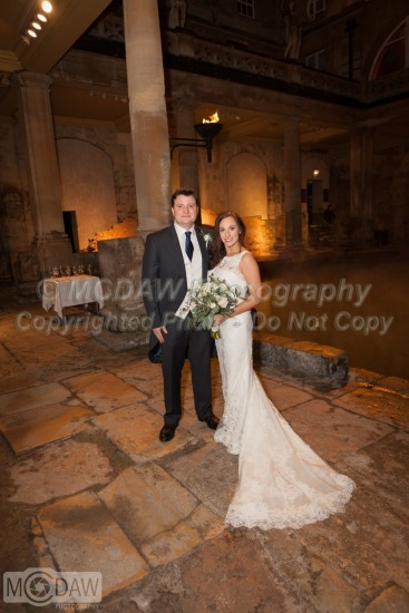 David & Maria's Wedding - The Roman Baths : Bath