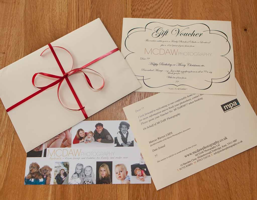 MCDAW Photography Gift Vouchers