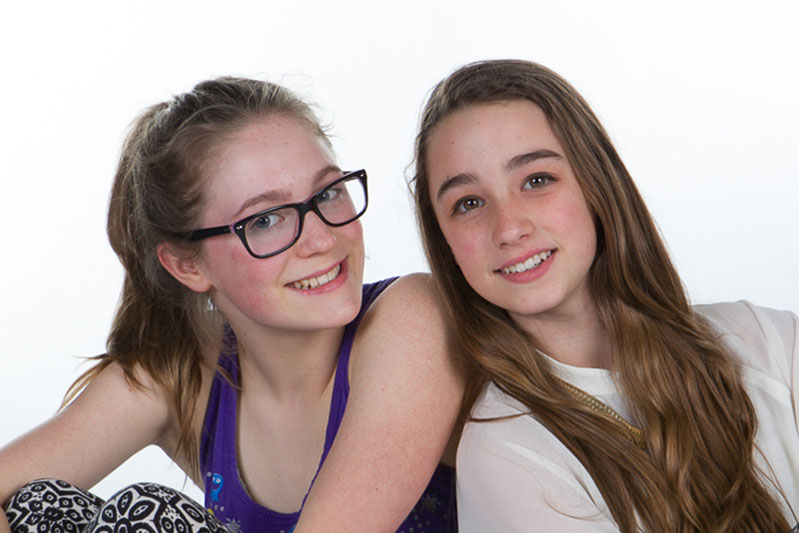 Photograph of girls at makeover party in Tonbridge