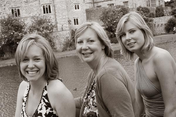 Location family portrait at Leeds Castle