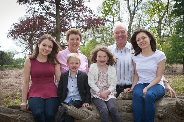 Outdoor family portraits at Knole Park in Sevenoaks
