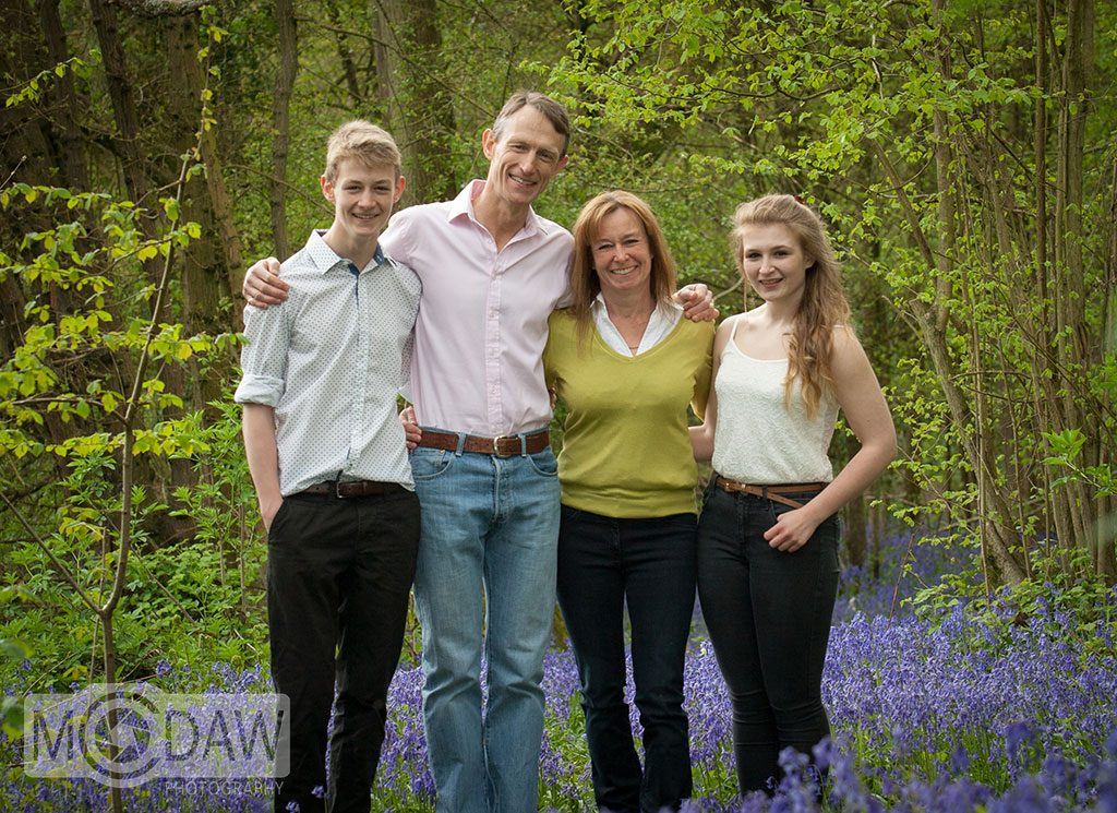 Spring time family photoshoot in bluebell woods by MCDAW Photography